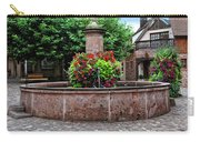 Village Fountain In Provence Carry-all Pouch