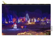 Village In Christmas Lights Panoramic View Carry-all Pouch