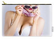 Vintage Blond Beauty In Pinup Fashion Accessories Carry-all Pouch