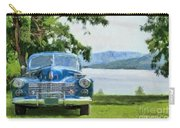 Vintage Blue Caddy At Lake George New York Carry-all Pouch