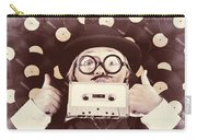 Vintage Music Woman Giving Thumb Up To Retro Songs Carry-all Pouch
