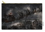 Vintage Santa Stormy Midnight Ride Reindeer Sleigh Carry-all Pouch