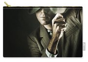 Vintage Undercover Spy On Dark Background Carry-all Pouch