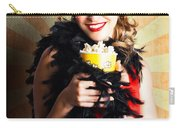 Vintage Woman Eating Popcorn At Movie Premiere Carry-all Pouch