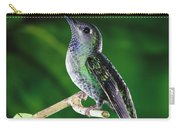 Violet Sabre-wing Hummingbird Carry-all Pouch by Michael and Patricia Fogden