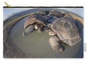 Volcan Alcedo Giant Tortoises Wallowing Carry-all Pouch by Tui De Roy
