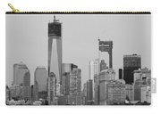 1 W T  C  And Lower Manhatten In Black And White Carry-all Pouch