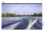 Wake From The Wash Of An Outboard Motor Carry-all Pouch