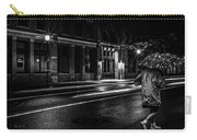 Walking In The Rain   Carry-all Pouch by Bob Orsillo
