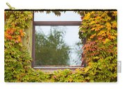 Wall Overgrown With Fall Colored Vine And Ivy Carry-all Pouch