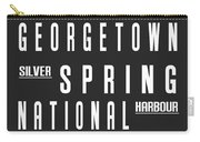 Washington City Subway Sign Carry-all Pouch