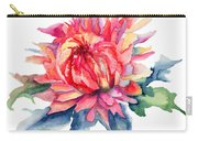 Watercolor Illustration With Beautiful Flowers  Carry-all Pouch