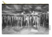 Waterfalls Childs National Park Painted Bw   Carry-all Pouch