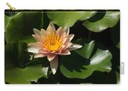 Exotic Colors - A Soft Coral Waterlily Carry-all Pouch