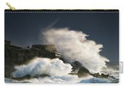 Wave Crashing Into Shore And Splashing Carry-all Pouch