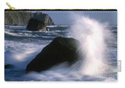 Waves Breaking On Shore Carry-all Pouch