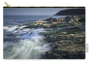 Waves Crashing Against The Shore In Acadia National Park Carry-all Pouch