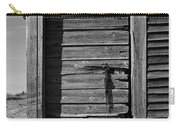 Weathered Door With Hanging Chain Carry-all Pouch