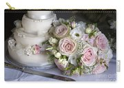Wedding Bouquet And Cake Carry-all Pouch