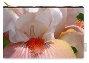 White And Pink Iris 2 Carry-all Pouch