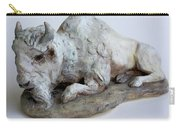 White Buffalo-sculpture Carry-all Pouch by Derrick Higgins