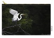White Egret's Takeoff Carry-all Pouch