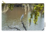 White Heron In Magnolia Cemetery Carry-all Pouch