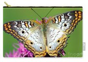 White Peacock Butterfly Anartia Carry-all Pouch