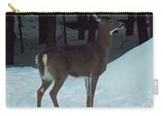 White Tail Deer Carry-all Pouch by Brenda Brown