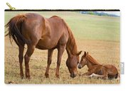 Wild Horse Mother And Foal Carry-all Pouch
