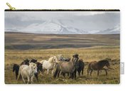 Wild Icelandic Horses Carry-all Pouch