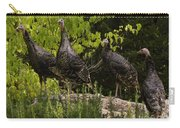 Wild Turkey Meleagris Gallopavo Carry-all Pouch