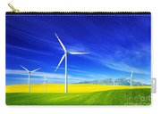 Wind Turbines On Spring Field Carry-all Pouch