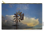 Windmill And Clouds Carry-all Pouch