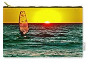 Windsurfer At Sunset On Lake Michigan From Empire-michigan  Carry-all Pouch
