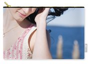 Windy Hair Woman Carry-all Pouch