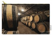 Wine Barrels In A Cellar. Cote D'or. Burgundy. France. Europe Carry-all Pouch