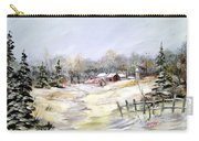 Winter At The Farm Carry-all Pouch