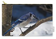 Hungry Winter Blue Jay Carry-all Pouch