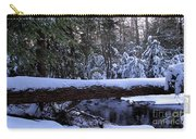 Winter Forest Stream Carry-all Pouch