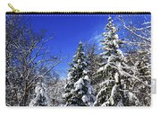 Winter Forest Under Snow Carry-all Pouch