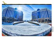 Winter Street Scenes Around Piedmont Town Centre Charlotte Nc Carry-all Pouch