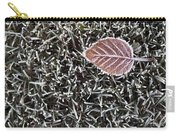 Winter With Frosted Leaf On Frozen Grass Carry-all Pouch