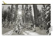 Winter Wonderland - Badger Pass In Yosemite National Park Carry-all Pouch