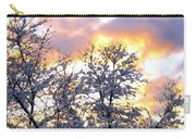 Wintry Sunset Carry-all Pouch by Will Borden