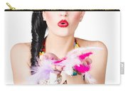 Woman Blowing Feathers Carry-all Pouch