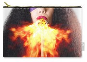 Woman Breathing Fire From Mouth Carry-all Pouch