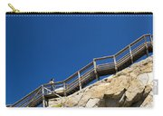 Woman Climbing Stairs Carry-all Pouch