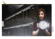 Woman Holding Clock Carry-all Pouch