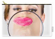 Woman Kissing Magnifying Glass Carry-all Pouch
